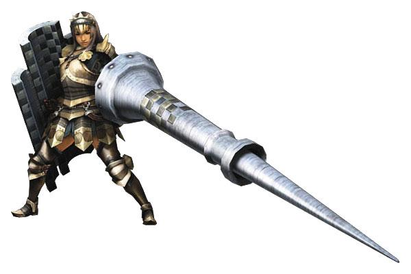 Ksatria abad pertengahan mengacungkan lance | monsterhunter.wikia.com